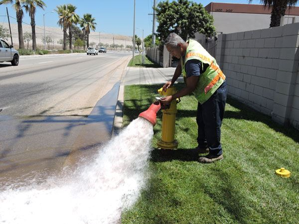 Fire Flow Testing on Arrow Highway